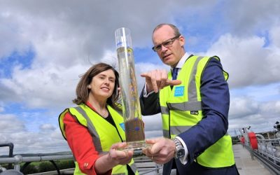Coveney Welcomes Progress of Harbour Sewage Works